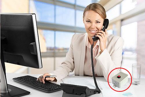 bouton sos sur bureau