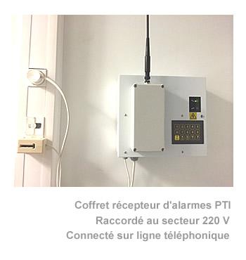 Coffret récepteur d'alarme pti modèle Datipro